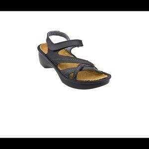Naot Black Paris Madras Sandals